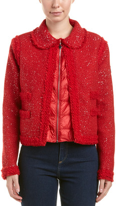 Moncler Padded Wool-Blend Boucle Jacket
