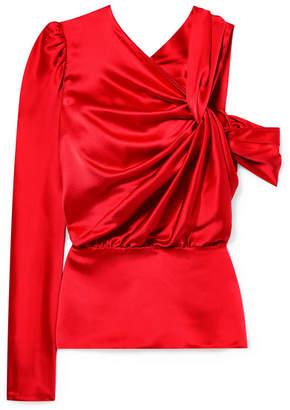 Silvia Tcherassi - Brina Twisted Silk-charmeuse Blouse - Red