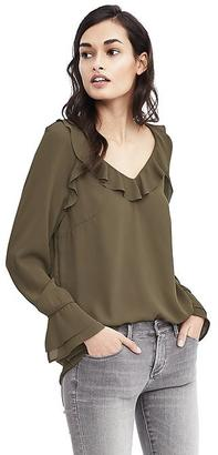 Easy Care Layered-Cuff Blouse $88 thestylecure.com