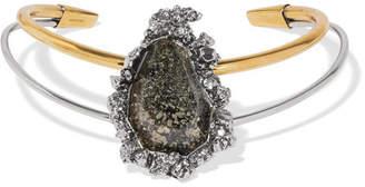 Alexander McQueen - Gold And Silver-tone Stone Choker $875 thestylecure.com