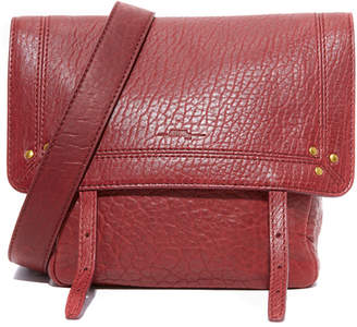 Jerome Dreyfuss Jeremie Burgundy Lambskin Bag