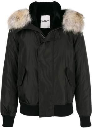 Yves Salomon Army hooded bomber jacket