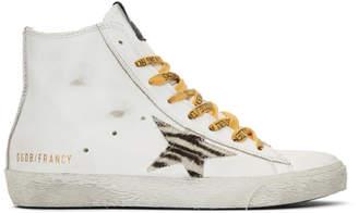 Golden Goose White Francy Pony Star Sneakers