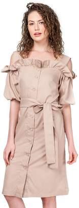 Plains and Prints Womens x Mark Bumgarner Veera Short Sleeves Dress