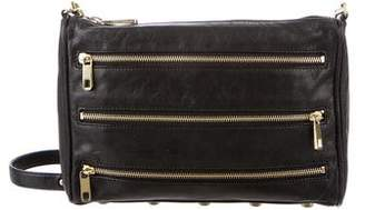 Rebecca Minkoff Leather 5 Zip Crossbody Bag