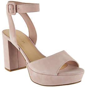 Marc Fisher Suede Platform Sandals with AnkleStrap - Meliza