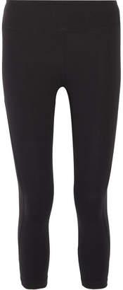 Tory Sport Cropped Stretch-supplex Leggings - Black