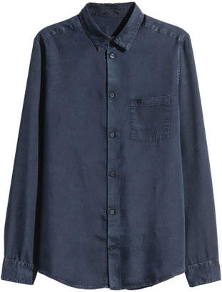 H&M Denim Shirt Regular fit - Blue