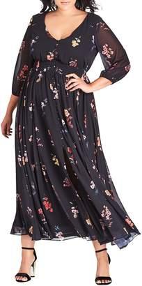 City Chic Sahara Floral Maxi Dress