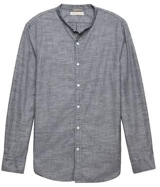 Banana Republic Heritage Grant Slim-Fit Chambray Banded-Collar Shirt