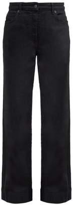 The Row Anat High Rise Wide Leg Jeans - Womens - Black