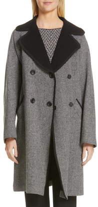 Emporio Armani Belted Herringbone Trench Coat