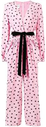 Valentino heart print jumpsuit