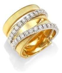 Marco Bicego 18K White Yellow Gold& White Diamond Ring