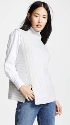 281eb96535e Vince Rib Sleeveless Turtleneck Sweater