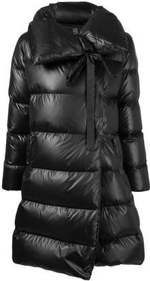 Bacon asymmetric padded coat