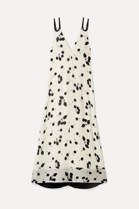 3.1 Phillip Lim Printed Crepe De Chine Maxi Dress - Ivory