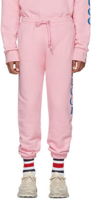 Gucci Pink Logo Medley Sweatpants