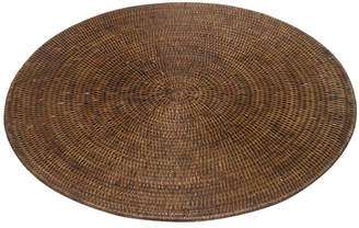 Rattan Large Round Placemat Color: Grey