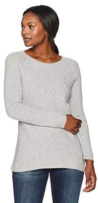 Lark & Ro Women's 100% Cashmere Soft Lattice Stitch Sweater