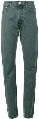 Holiday Blue high waist straight leg jeans