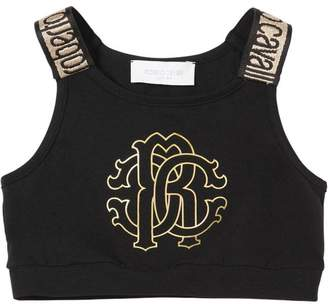 Roberto Cavalli Cotton Jersey Crop Top