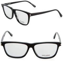 Saint Laurent 56MM Rectangle Eyeglasses