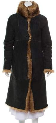 Andrew Marc Shearling Suede Coat