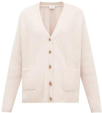 Allude Ribbed Cashmere Cardigan - Womens - Beige