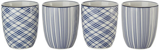 Pols Potten Assorted Check & Stripe Cups