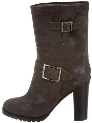 Jimmy Choo Jimmy Choo Suede Ankle Boots w/ Tags