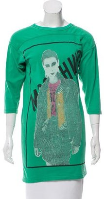 Moschino Printed Crew Neck Tunic