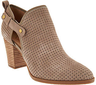 Franco Sarto Suede Perforated Ankle Boots -Dakota