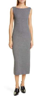 Dries Van Noten Tara Merino Wool Blend Midi Sweater Dress