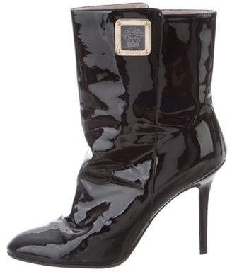 Versace Pointed-Toe Ankle Boots