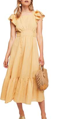 Free People Takin' a Chance Midi Dress