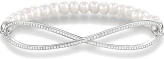 Thomas Sabo Love Bridge pearl and sterling silver infinity bracelet