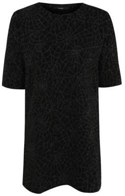 George Halloween Black Glittering Cobweb Tunic