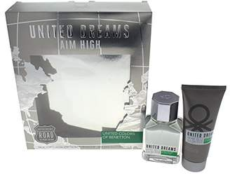 Benetton Dreams Aim High 2 Piece Eau de Toilette Spray Gift Set for Men