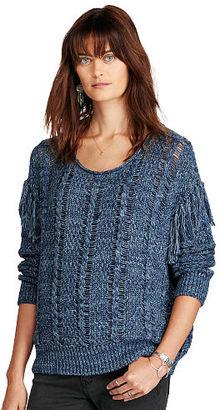 Ralph Lauren Denim & Supply Fringed Cotton Sweater $125 thestylecure.com