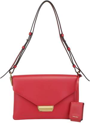 Prada Logo Fold-Over Shoulder Bag