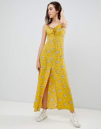 Brave Soul Poppy Maxi Dress with Tie Detail