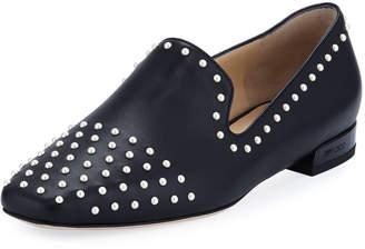 Jimmy Choo Jaida Flat Studded Leather Loafer
