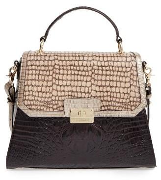 Brahmin Dynasty Brinley Leather Satchel - Brown $395 thestylecure.com