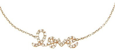 Sydney Evan LOVE Bracelet with Pave Diamonds - Rose Gold