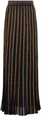 Missoni Pleated Lurex Maxi Skirt