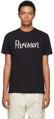 MAISON KITSUNÉ Black Parisien T-Shirt
