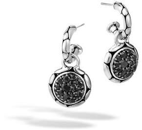 John Hardy Kali Silver Lavafire Drop Earrings