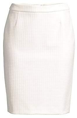 BOSS Women's Vilea Structured Houndstooth Pencil Skirt - Size 0