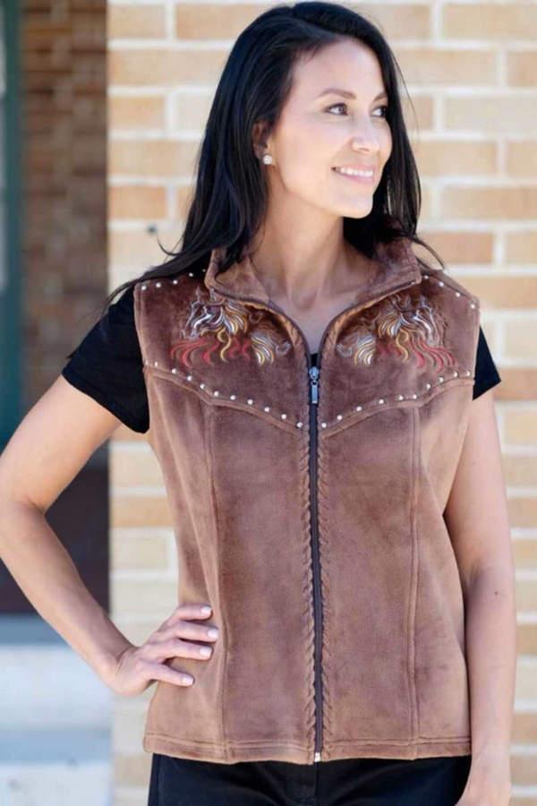Venario Velour Fleece Vest